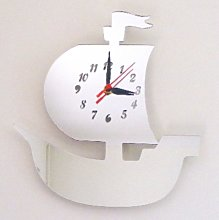Super Cool Creations Pirate Ship Clock Mirror 30cm