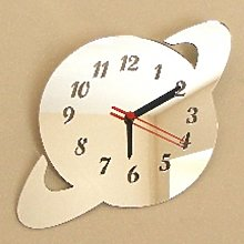 Super Cool Creations Saturn Mirror - 35cm Clock