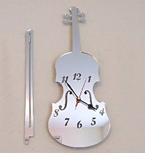 Super Cool Creations Violin Clock Mirror with Bow