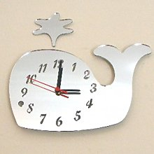 Super Cool Creations Whale Clock Mirror, Spurting