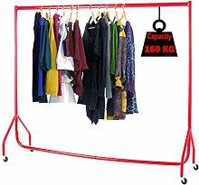 Super Heavy Duty Red Clothes Rail/Garment Rail 6ft