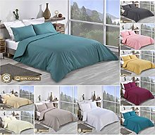 Super King Size Duvet Cover Sets Cotton - 3 Pieces