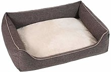 Super Luxury 70 x 100cm Dark Brown, Beds for Dogs