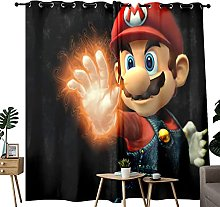 Super Mario Anime Window Curtains For Bedroom And