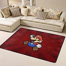 Super Mario Area Rug Floor Rugs Living Room