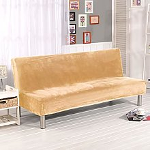 Super Plush Velvet Armless Sofa Slipcover Stretch