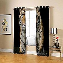 Super Soft Eyelet Blackout Curtains 2 Panels 46 x