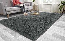 Super Soft FLUFFY Shaggy Rug Anti-Slip Carpet Mat