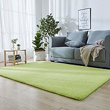 Super Soft Indoor Area Rug 110 x 140 cm Green