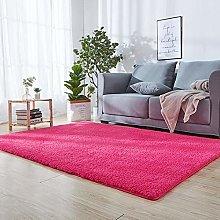 Super Soft Indoor Area Rug 120 x 150 cm Dark Pink