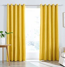 Super Soft Light Chenille Lined Eyelet Curtains