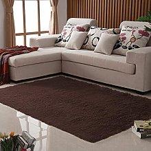 Super Soft Pink Area Rug Fluffy Black Bedside