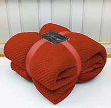 Super Soft Popcorn Textured Throws Fleece Blanket