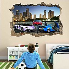 Super Sports Cars Wall Stickers Mural Decal Poster