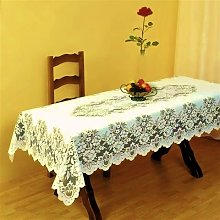 SUPERB CREAM HEAVY LACE TABLE CLOTH TABLE TOPPER