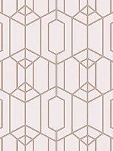 Superfresco Easy Albany Geo Blush Pink Wallpaper