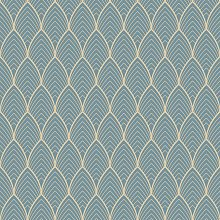 Superfresco Easy Bercy Blue & Gold Wallpaper