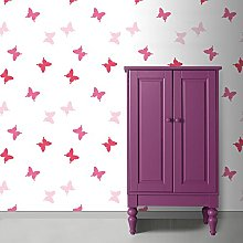 Superfresco Easy Butterflies Pink Wallpaper