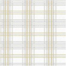 Superfresco Easy Country Tartan Yellow Wallpaper