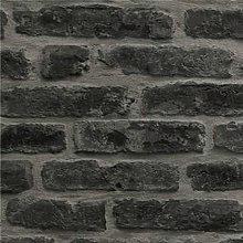 Superfresco Easy Industry Brick Black Wallpaper