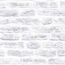 Superfresco Easy Industry Brick White Wallpaper