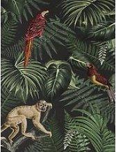 Superfresco Easy Into The Jungle Black Wallpaper