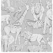 Superfresco Easy Jungle Animals Grey Wallpaper
