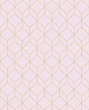 Superfresco Easy Myrtle Geo Rose Gold Wallpaper