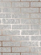 Superfresco Milan Brick Wallpaper - Rose Gold