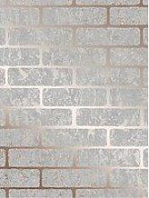 Superfresco Milan Brick Wallpaper - Rose Gold
