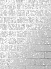 Superfresco Milan Brick Wallpaper - Silver