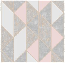Superfresco Milan Geo Blush Wallpaper