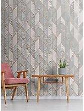 Superfresco Milan Geo Wallpaper &Ndash; Rose Gold