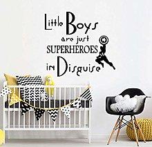 Superhero Wall Stickers Vinyl Nursery Bedroom