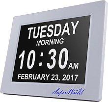 SUPERWORLD Digital Alarm Clock (White)