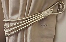 Supplied by Maple Textiles Cream Cord Band Curtain