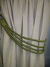 Supplied by Maple Textiles Green Cord Band Curtain
