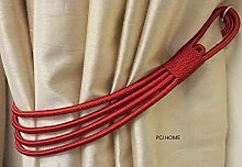 Supplied by Maple Textiles Red Cord Band Curtain