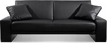Supra Faux Leather Sofa Bed, 2 Seater Sofa Bed,