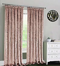 Supreme Quality Pair of Crushed Velvet Curtains