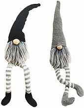 SUPVOX 2PCS Gnome Swedish Tomte Plush Toy
