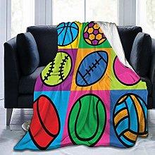 SURERUIM Soft Fleece Throw Blanket,Colorful