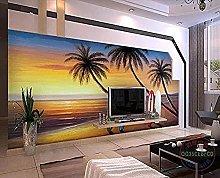 Surfing Tool Coconut Tree Sea Mural Custom 3D