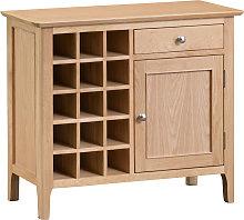 Suri Oak Wine Cabinet