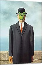Surrealism Rene Magritte The Son of Man Canvas Art