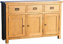 Surrey Oak Large Sideboard   Traditional Rustic