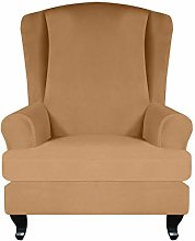 Surrui 2 Pieces Stretch Wing Chair Slipcover Wing