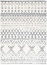Surya Maroc Shag Modern Area Rug Gray and White
