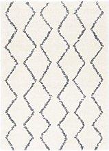Surya Maroc Shag Modern Zig Zag Area Rug Gray and