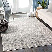 Surya Roma Modern Area Rug White and Gray 160x216cm